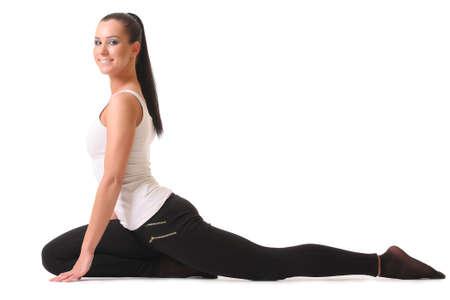 Young woman training yoga