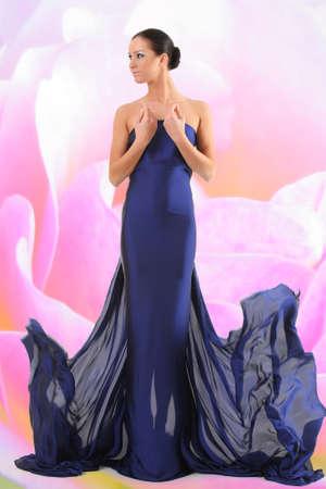beautiful young woman in long dress Stock Photo - 16472427