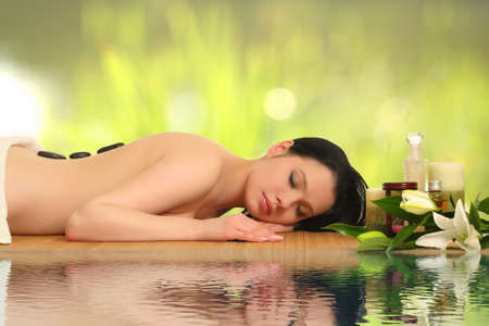 beautiful woman relaxing in spa Stock Photo - 16444184