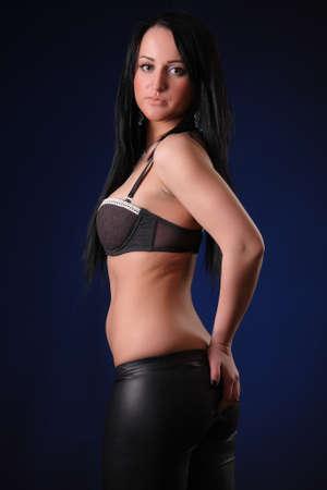 beautiful sexy brunette Stock Photo - 16444181