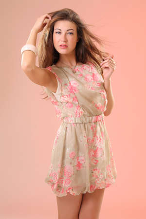 girl in summer dress photo