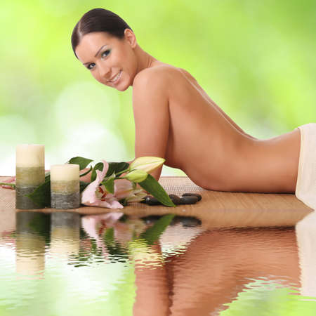 beautiful woman in a spa Stock Photo - 16443877