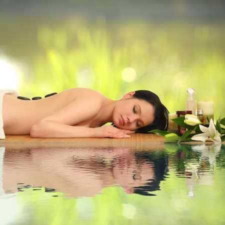 portrait of a girl in a spa photo