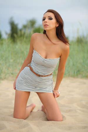 sexy woman on the beach photo