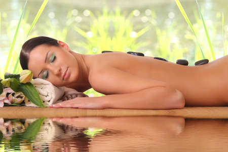 salon and spa: young girl in spa salon