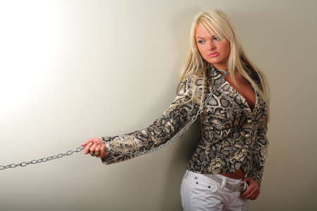 Woman in chains photo