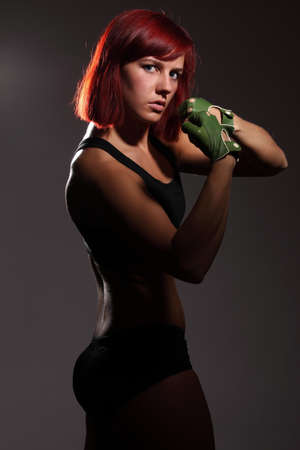 girl fighter photo