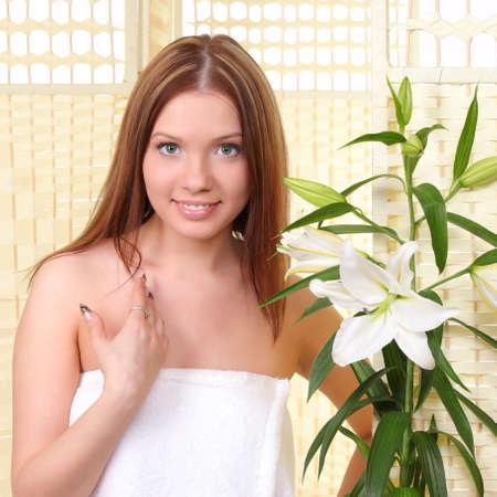 sexual chakra: Spa Woman. Beauty portrait.