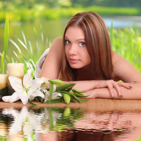 sexual chakra: Spa Woman . portrait Beauty woman relaxing in spa