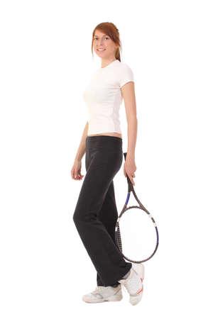 Female tennis player  photo