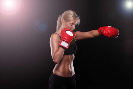 Boxing Girl 스톡 콘텐츠