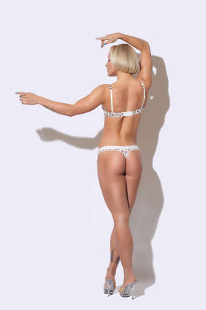 beautiful woman with a sports ass Stock Photo