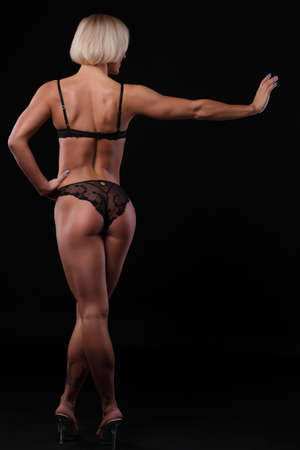 beautiful woman with a sports ass photo