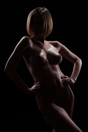 Beautiful female breast Stock Photo