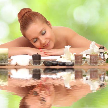welling: beautiful lovely girl in spa salon