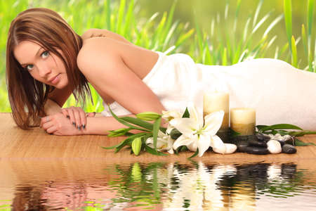 woman having body care in an sp Stock Photo - 27942998