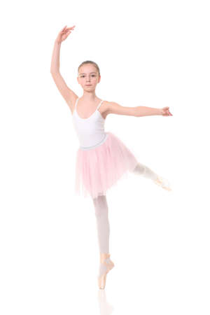 lovely little girl, dressed as a ballerina photo