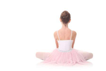 bailarina de ballet: preciosa niña, vestida como una bailarina