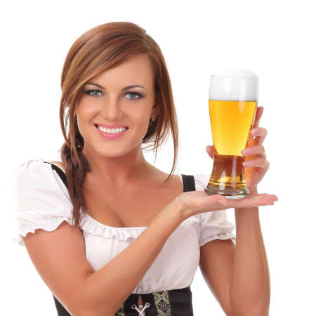 woman with beer