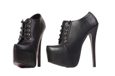 brutal, womens fashion black shoes photo