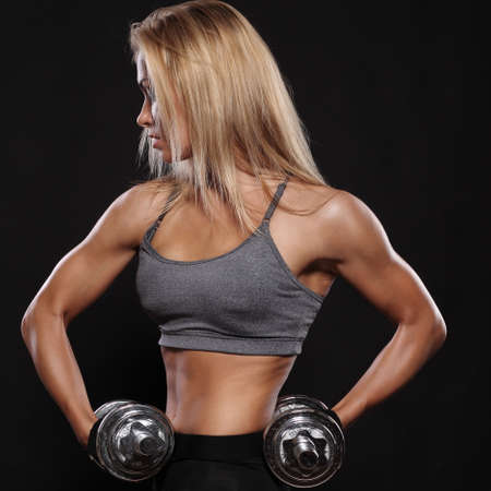 Fitness and Exercise Female Bodybuilder photo