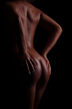 nude black women: back and butt naked women.