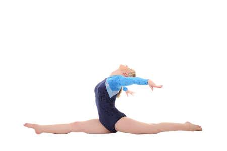 cornrows: chica joven realiza ejercicios gimn�sticos
