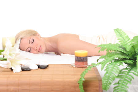 Beautiful Woman Getting Spa  photo