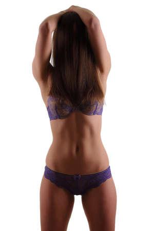 busty bra: woman with a sexy body in underwear