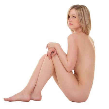 mujer desnuda sentada: Sexy mujer desnuda