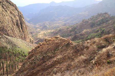vallehermoso: landscape of the island of La Gomera. Canary Islands. Spain Stock Photo