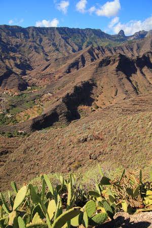 vallehermoso: Canary mountain landscapes Stock Photo