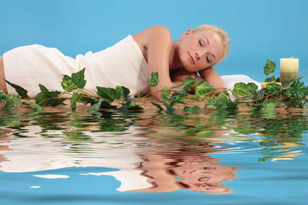 sexual chakra: woman relaxing in a spa