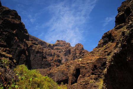 ravine: canyon Masca at Tenerife island