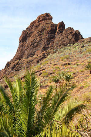 mountain landscapes of gorges maska, Canary Islands photo