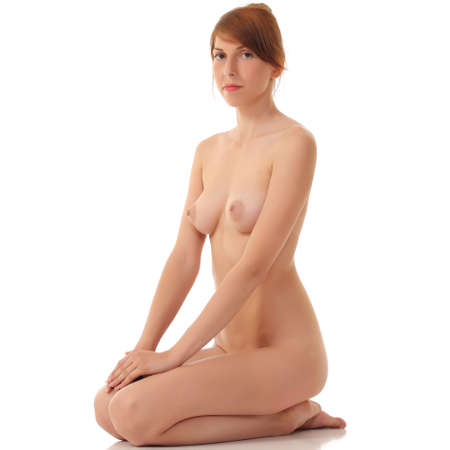 bare breasts: Sexy naked woman