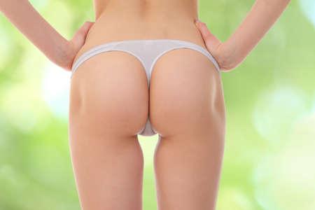fille nue sexy: Fesses sexy en lingerie Banque d'images