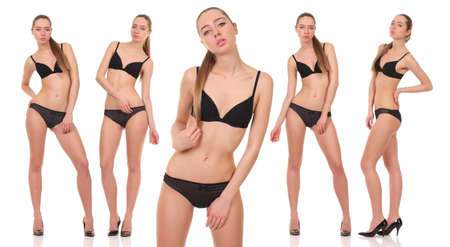 sexy body: woman with a sexy body in erotick underwear Stock Photo