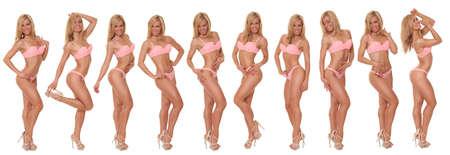 Frau mit einem sexy Körper in Unterwäsche Standard-Bild - 40355608