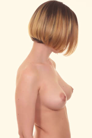girls breast: Naked beautiful woman with big breast