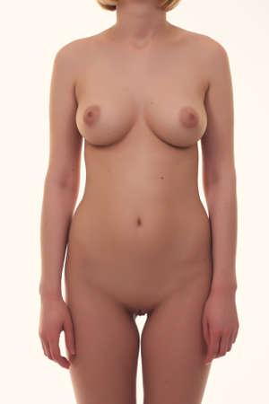 senos: Hermosa mujer desnuda con el pecho grande