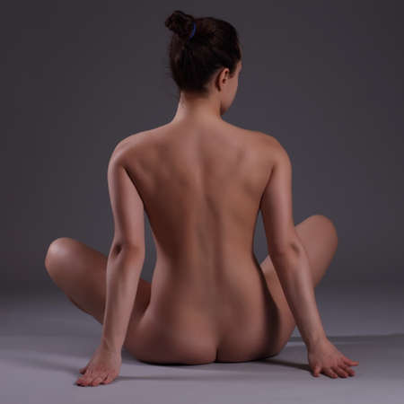 naked woman back: flexible girls nude photos