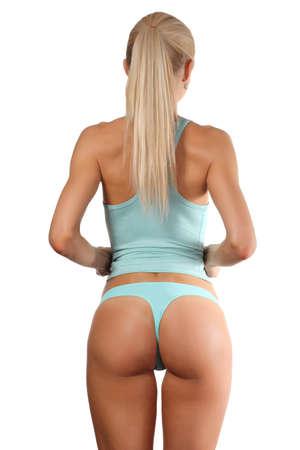 hintern: Schön und sexy Gesäß auf weißem Hintergrund