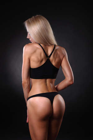 Sexy beautiful athletic ass . Beautiful athletic woman