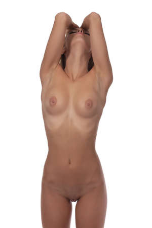 nudity: Nude body of the beautiful young woman.