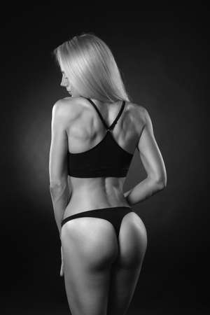 Sexy beautiful athletic ass 版權商用圖片