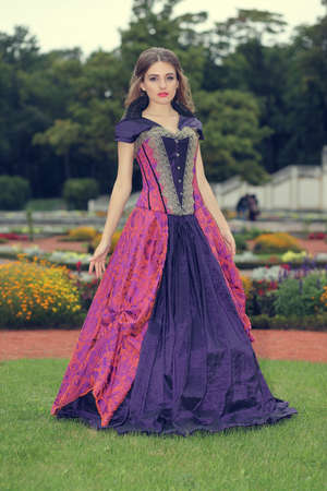 young girl in a classic ball gown