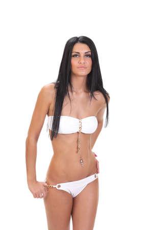 Beautiful slim girl in bikini