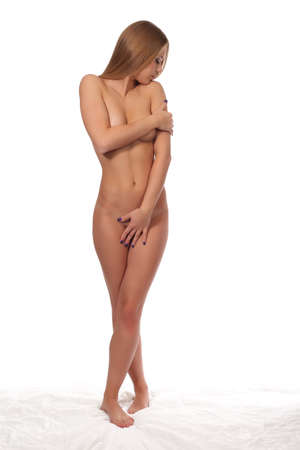 Nude body of the beautiful young woman.