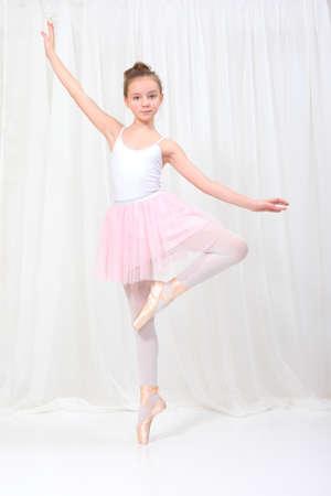 young girl ballerina 스톡 콘텐츠